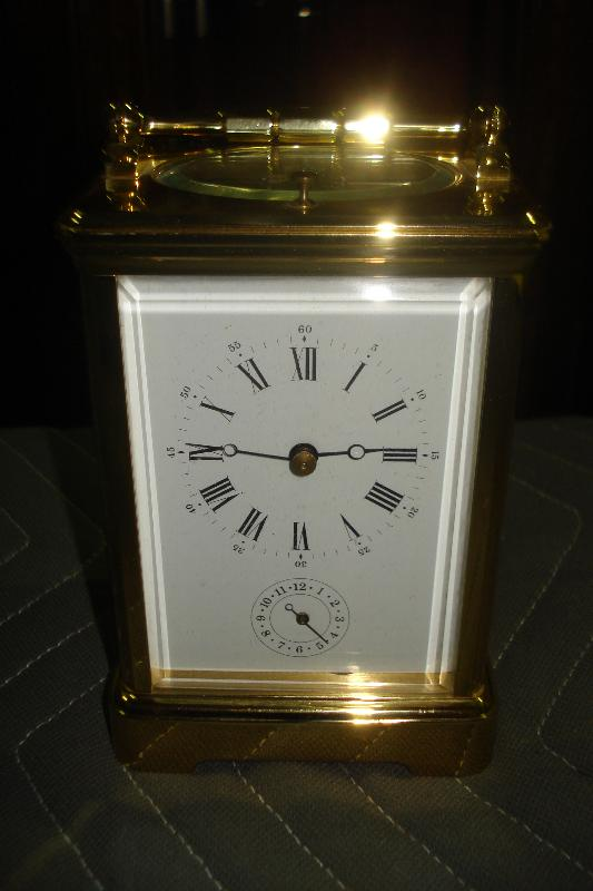 French Carriage Clock, Twentieth Century, Time, Strike, Repeat And Alarm