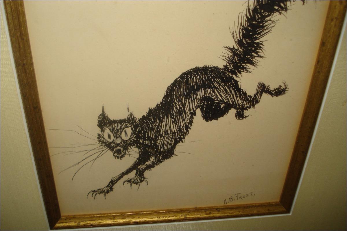 Pen And Ink On Paper Drwaing By Arthur Burdett Frost, (American, 1851-1928),