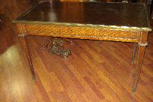 Early Nineteenth Century French Napoleonic Bureau Plat (Desk), Inlaid, Bronze Mounts