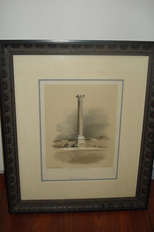 Nineteenth CenturyHand Colored Duotone Lithograph by David Roberts,