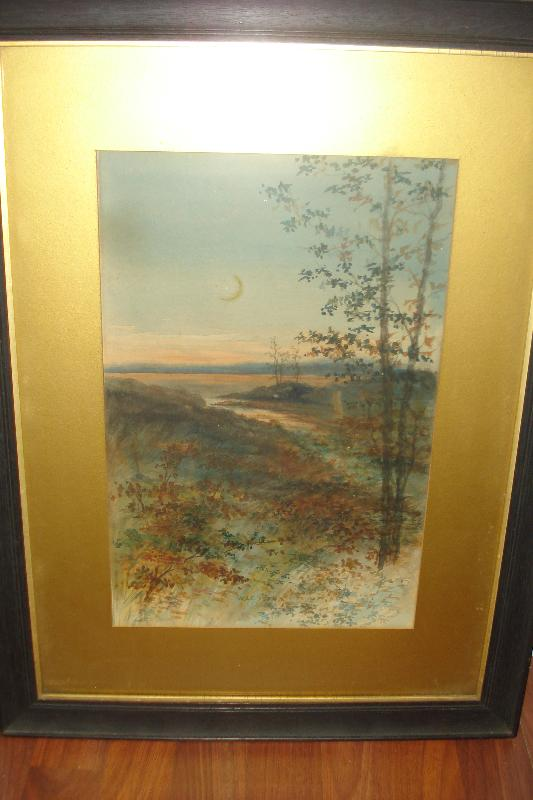 Early Twentieth Century Watercolor Signed W. S. E.,