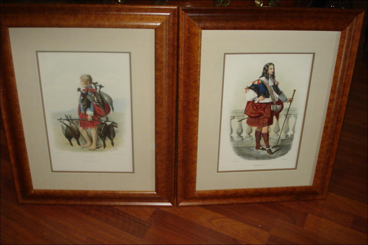 Nineteenth Century Hand Colored Lithographs By Robert Ronald McIan, (Pair),