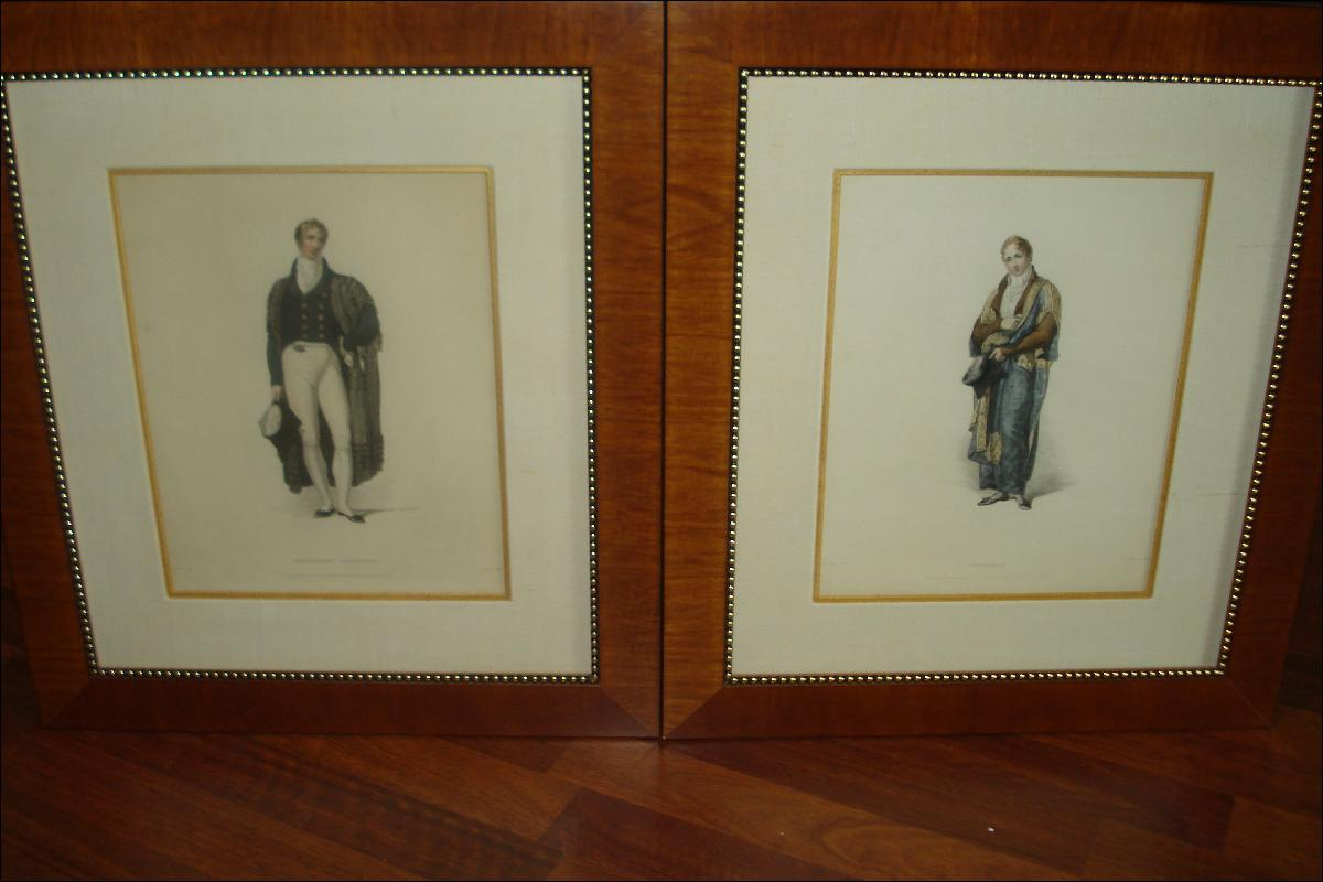 Early Nineteenth Century Engravings, Hand Colored (Pair) By John Samuel Agar, After Thomas Uwins (1782-1857),