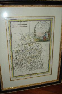 Original Late Eighteenth Century Hand Colored Copperplate Engraving Of