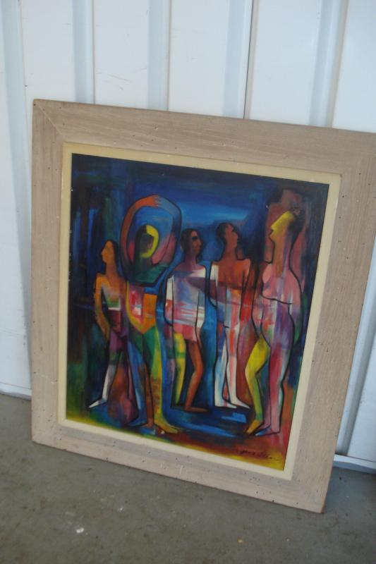 Outstanding Mid Century Oil On Board By Gene Artman, 1954