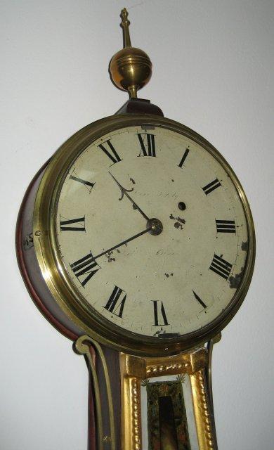 Original Antique Banjo Clock Signed William Cummens [One of Simon Willard's Most Famous Apprentices]
