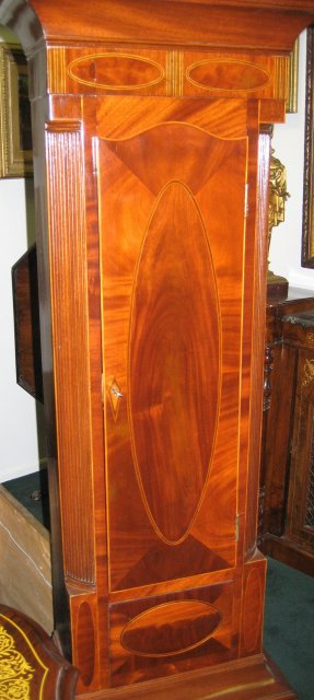 Period New Jersey Federal Tallcase Clock (Longcase or Grandfather Clock) with Casework Attributed to John Scudder