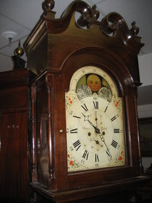 Late Eighteenth Century American Berks County Pennsylvania Walnut Tallcase Clock (Longcase or Grandfather Clock) by Peter Gifft
