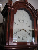 Late Eighteenth Century Original Baltimore Mahogany Tallcase Clock (Longcase or Grandfather Clock) by William Atkinson