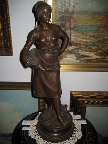 Late Nineteenth Century Original Antique French Bronze by Charles Georges Ferville-Suan,