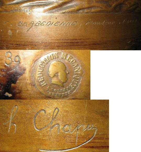 Original Late Nineteenth Century French Bronze by Henri Chapu