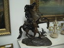 Pair of Late Ninteenth Century French Marly Horses in the Manner of Guillaume Coustou