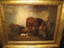 Nineteenth Century Dutch Oil on Canvas by Wouter Vershuur [Verschuur], Jr.