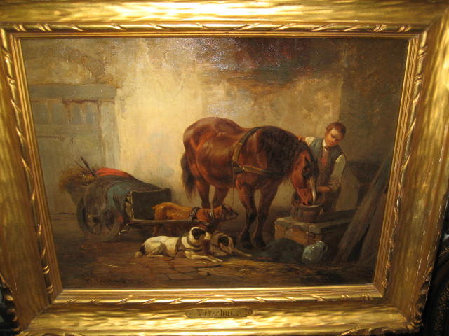 Nineteenth Century Dutch Oil on Canvas by Wouter Vershuur [Verschuur], Jr.