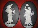 Pair of Late Nineteenth to Early Twentieth Century French Limoges Signed Pate Sur Pate and Porcelain Plaques