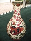 Late Nineteenth Century Ornate Zsolnay Vase with Birds and Ornate  Turtle