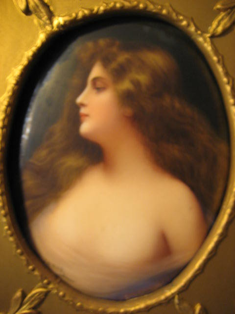Late Nineteenth to Early Twentieth Century Oil on KPM Porcelain Plaque