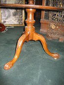 Original Nineteenth Century Mahogany Dumbwaiter (Server) of Three Tiers, Queen Anne, Acanthus Carved Knees And Carved Paw Feet