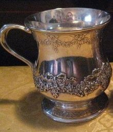 Tiffany & Co. Makers Sterling Silver Baby Cup
