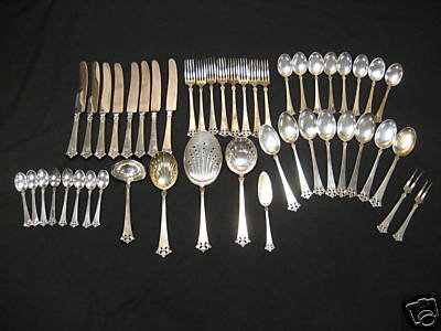 Atkinson Boys Sterling Silver Flatware Set 47 Pieces