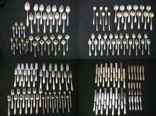 Tiffany & Co. Reeded Edge Sterling Silver Flatware Set 159 Pieces, 197 Troy Ozt.