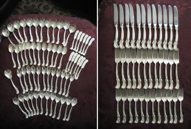 Wallace Walz of Spring Sterling Silver Flatware Set 97 Pieces