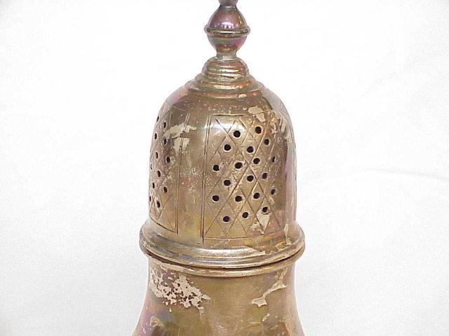 Antique British Sterling Silver Sugar Shaker / Muffineer