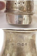 Antique British Sterling Silver Sugar Shaker / Muffineer