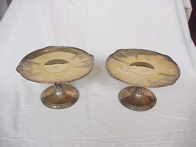 Pair Antique Gorham Sterling Silver Tazzas / Cake Stands