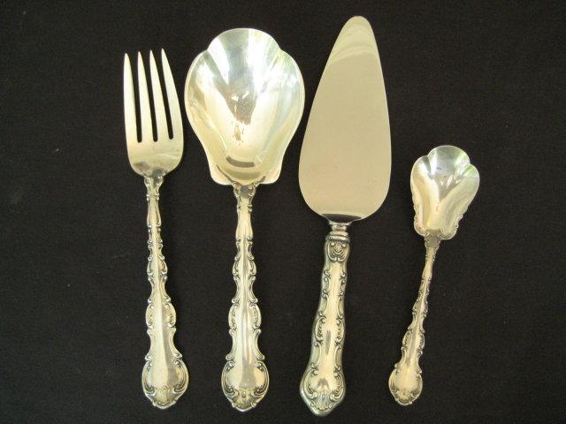 81 Piece Set Gorham Strasbourg Sterling Silver Flatware