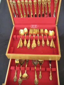66 Piece Set Gorham GOLDEN LA SCALA Sterling Silver Flatware