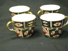 4 Royal Crown Derby TRADITIONAL IMARI Cups #2451