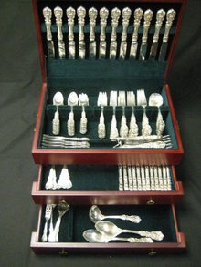 146pc Set Red & Barton Frncis I Sterling Silver Flatware