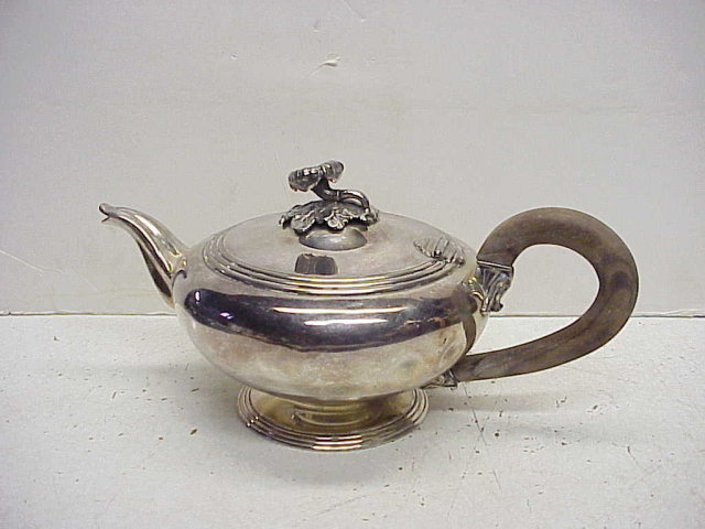Antique French Christofle Silverplate Teapot