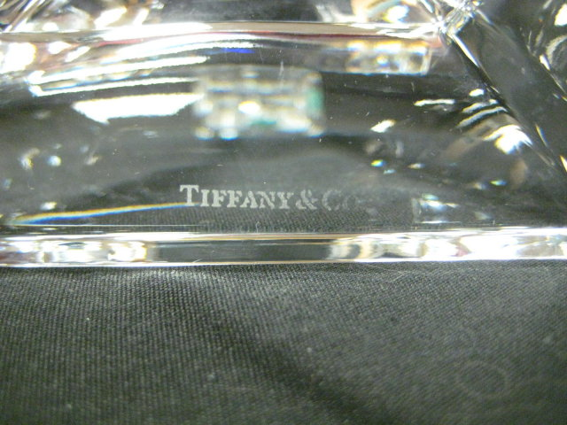 Pr Tiffany & Co Clear Cut Crystal Candlesticks 7