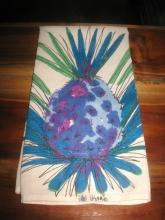 Vintage Vera Blue Pineapple Tea Towel