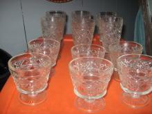 set of 6 small set of 6 large stem glassed