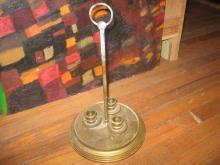 BRASS CANDLE HOLDER HOLDS 3 CANDLES