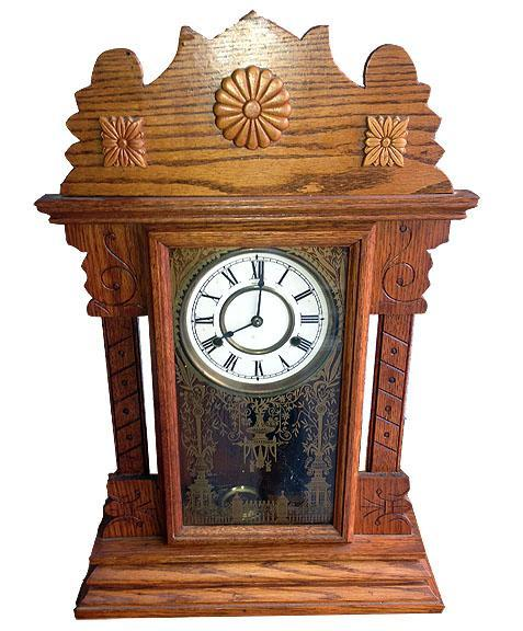 Circa 1880 New Haven Large Fancy Parlor Clock