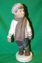 Royal Copenhagen Figurine #1064 Boy in Scarf / Boy in Winter