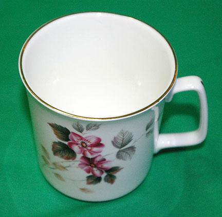 Royal Grafton Bone China Tea Mug with Pink Blossoms