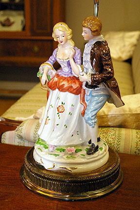 Vintage Figural Porcelain Table Lamp
