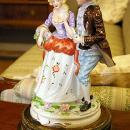 Vintage Figural Porcelain Table Lamp