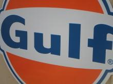OUR LARGEST NEW GULF GAS & OIL SIGN // TOP QUALITY