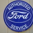 OUR LARGEST AUTHORIZED FORD SERVICE GARAGE SIGN / LOW SHIPPING COST