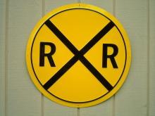 OUR LARGEST RAILROAD HIGHWAY METAL SIGN / MADE IN USA