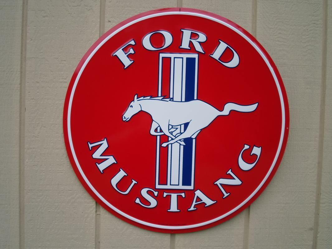 OUR LARGEST FORD MUSTANG PONY METAL SIGN // MADE IN USA