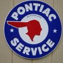 OUR LARGEST PONTIAC AUTHORIZED SERVICE METAL GARAGE SIGN // MADE IN USA