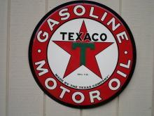 OUR LARGEST TEXACO GASOLINE - OIL SERVICE STATION METAL SIGN // MADE IN USA
