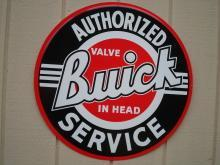 OUR LARGEST BUICK AUTHORIZED SERVICE GARAGE METAL SIGN // MADE IN USA